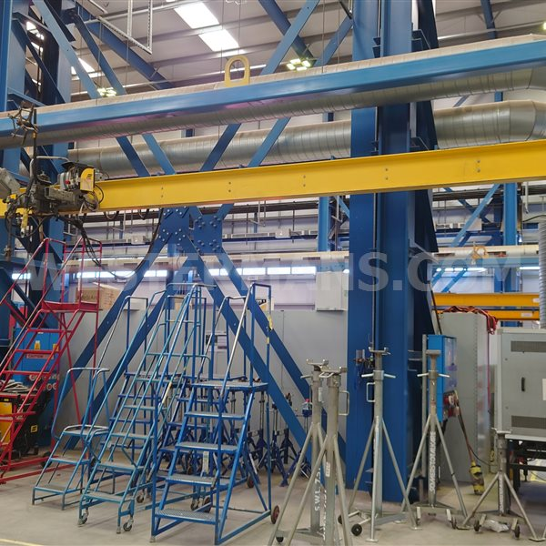 ESAB A2/A6 Beam Travelling carriage on 8m x 3m frame With PEK