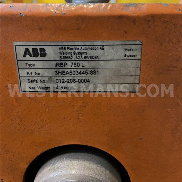 Head and tail stock ABB IRBP 750 L