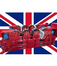 Westworld 20,000kg Welding Rotators, set with powered and idler units