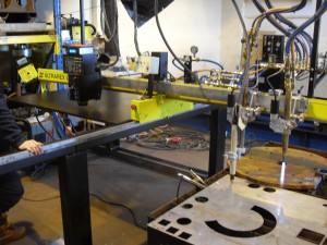 Test Cutting Refurbished ESAB UXB Profile Machine