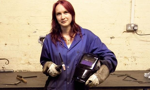 Jenny Reed female welder of Blackfox metalwork