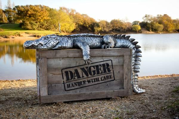 Crocodile sculpture Michael Turner