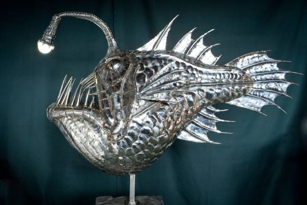 Fish sculpture by Michael Turner