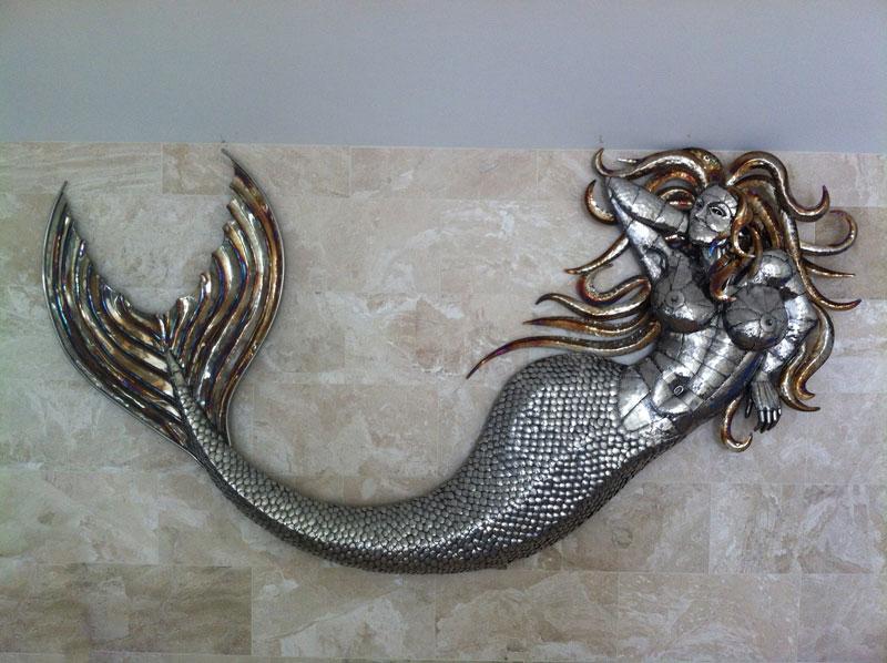 Mermaid sculpture Michael Turner