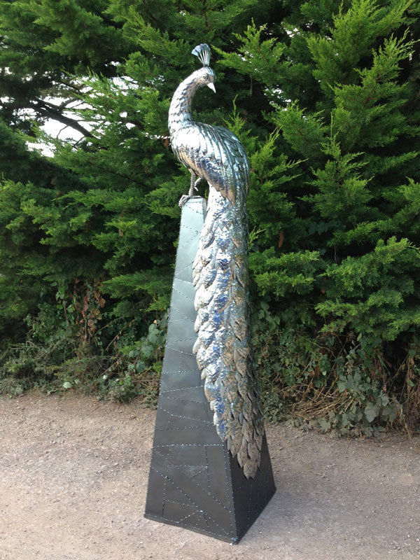 Peacock sculpture by Michael Turner