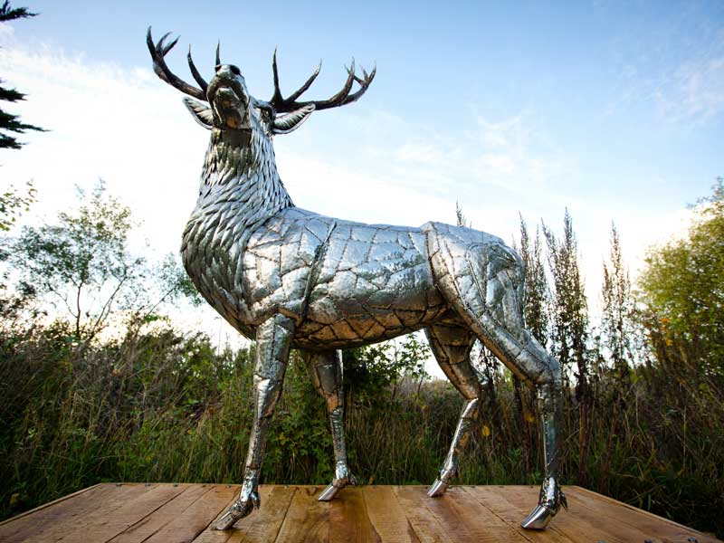 Stag sculpture by Michael Turner
