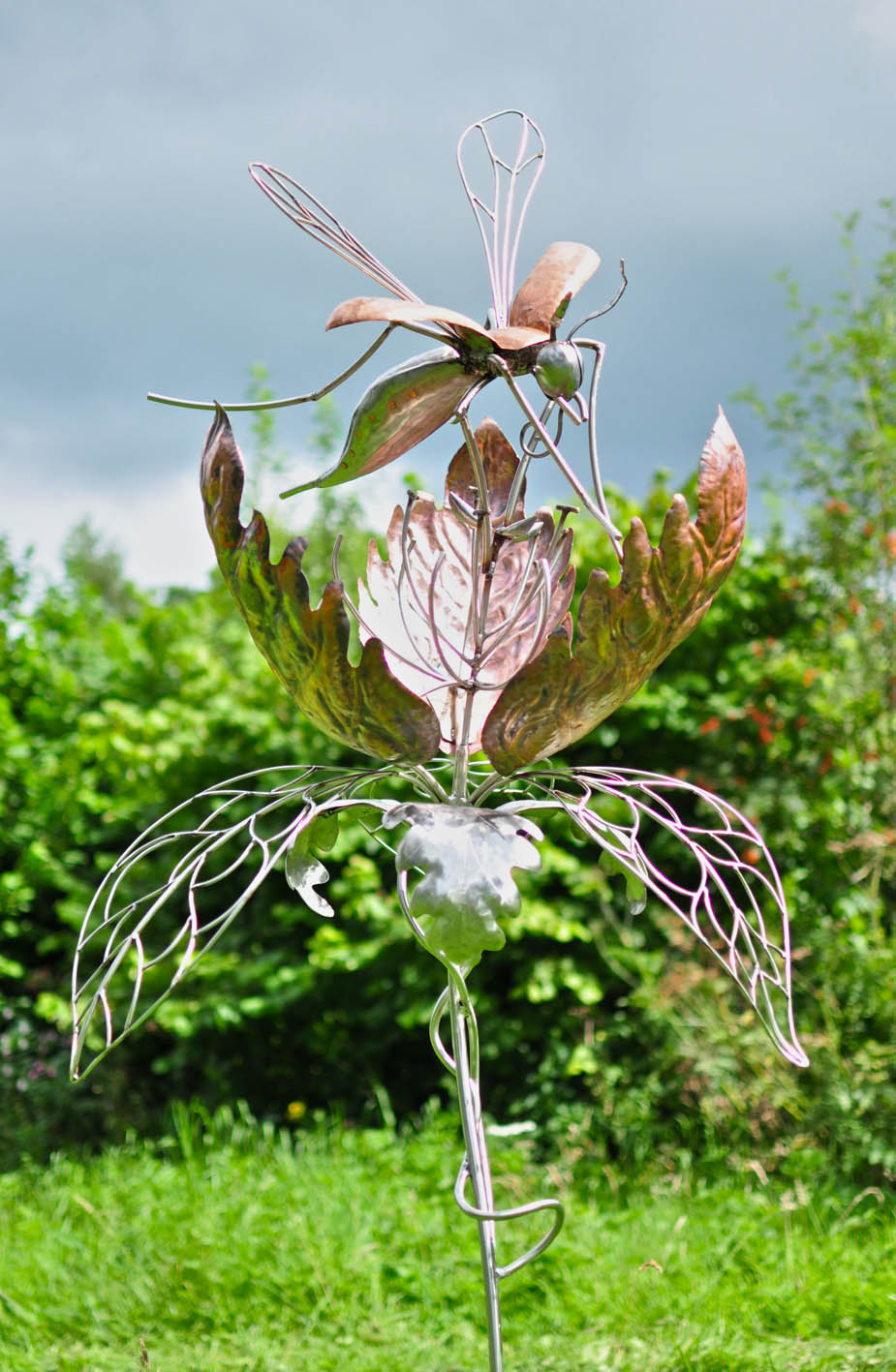 Copper Garden Art Sculpture