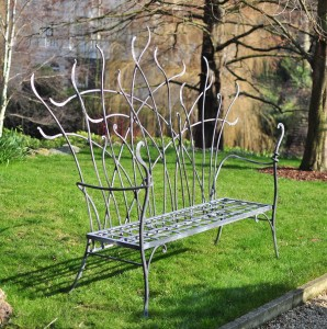 Decorative garden bench David Freedman