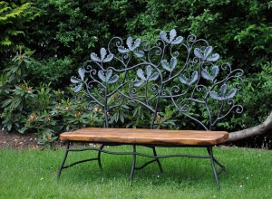 Oak bench David Freedman