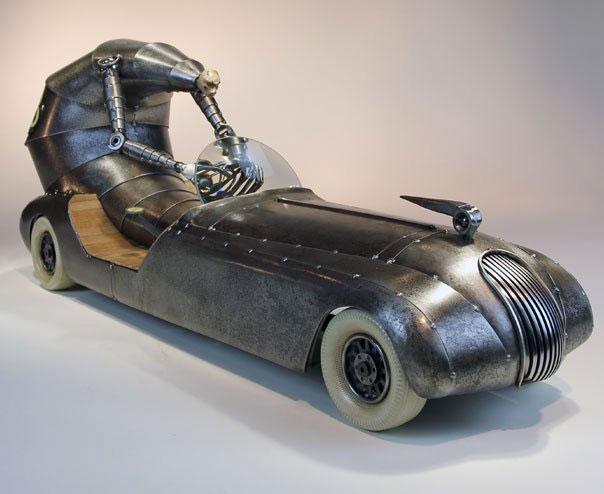 Racing Care sculpture by Greg Brotherton