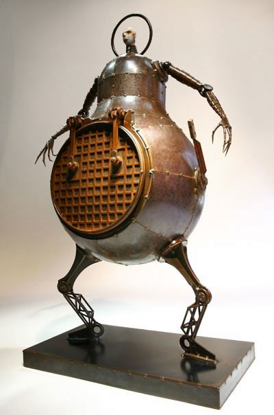 Sewer Man sculpture by Greg Brotherton