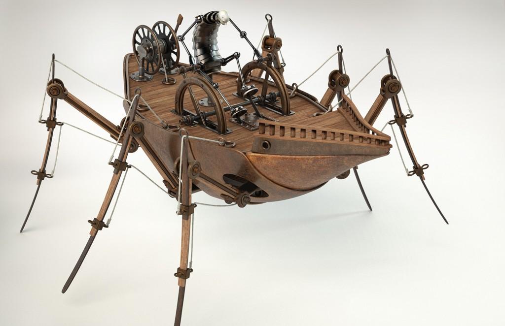 Walking Ship sculpture by Greg Brotherton