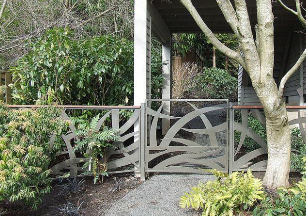 Grass pattern gates by Jill Toebrson