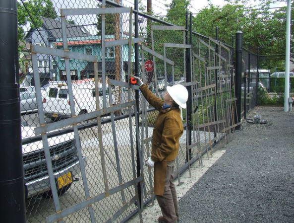 Jill Toberson Installing the GE gates