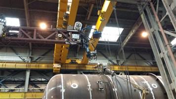 Boom welder ultra large pressure tanks
