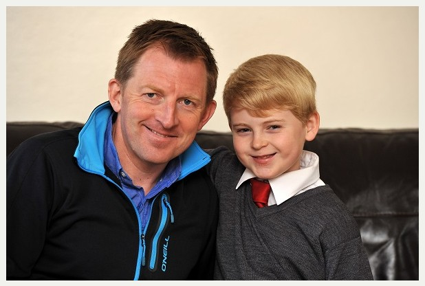 PICTURE MATT SHORT STORY ALAN    Ted Kelly (11) from Thurmaston who has been raising money for Cancer Research UK after his dad, Rob Kelly, who is now in remission, got the disease three years ago. CONTACT 01162697706 / 07889208937
