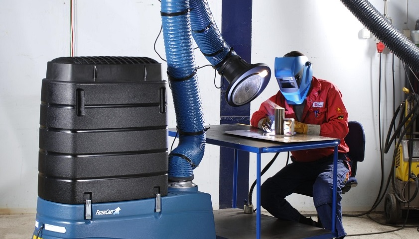 Fumes from welding mild steel need better protection