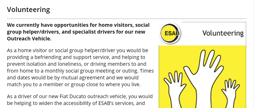 ESAB Sussex charity