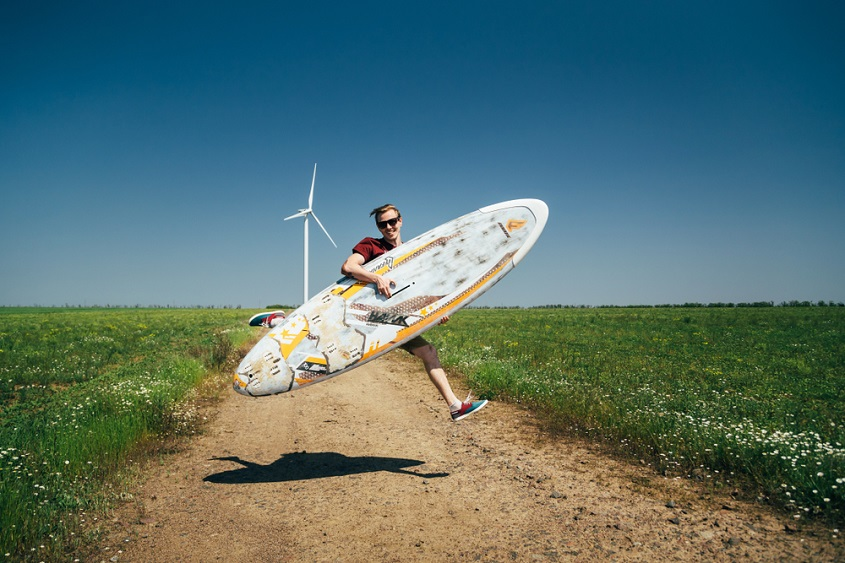 wind surfer wind turbine