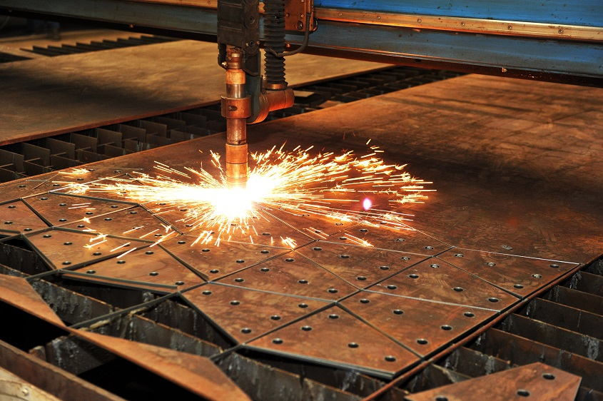CNC plasma cutting industrial plate cutting