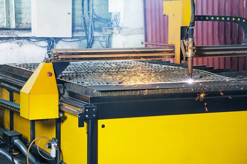 CNC plasma cutting table
