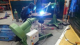 How to increase welding productivity with a positioner