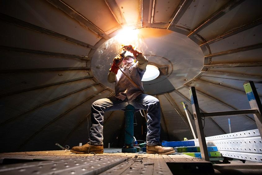 hazard small space welding