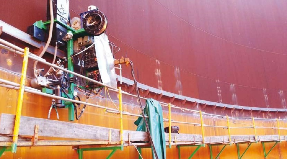 SAW tank welder for storage