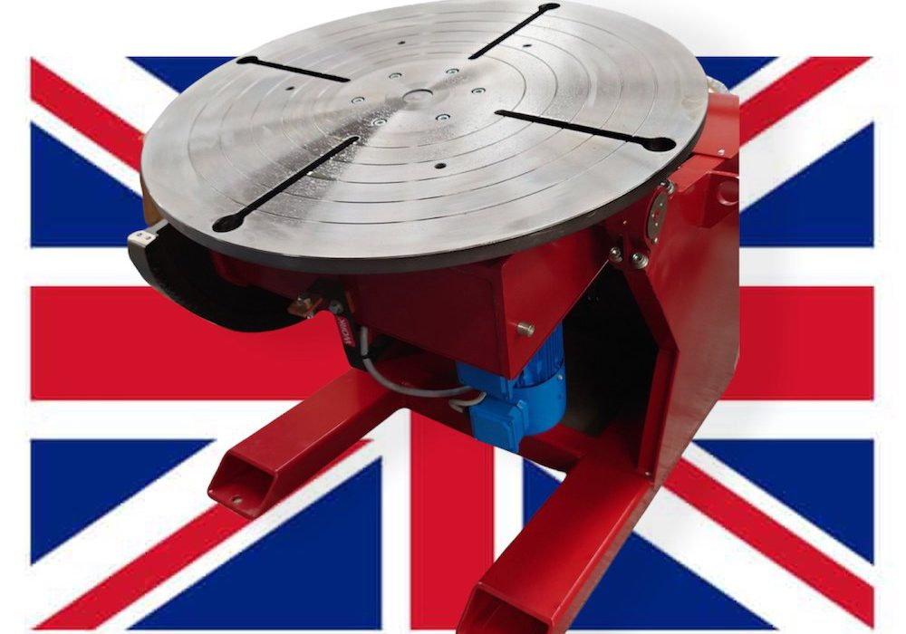 UK Made Welding Positioners in Stock for Quick Delivery