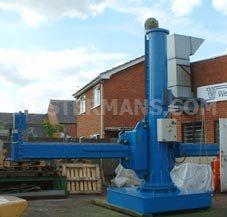 column and boom welding