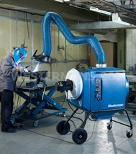 Nederman Fume and dust extraction unit with cleanable filter with Compressed air