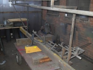 before refurbishment of profile cutter