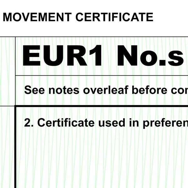 EUR1 form