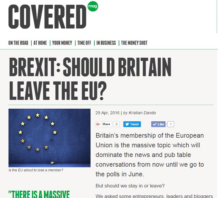 Go compare article Brexit