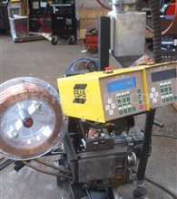 ESAB A6 Sub Arc Seam Welding Tractor, Twin Head LAF 1250 Power Source andTAF AC Power Source with PEH Controls