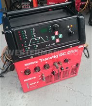Murex Transtig DC 250i Tig welder, water cooled package