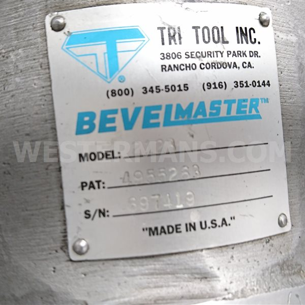 Tri-Tool 212B Bevelmaster Portable Bevelling System