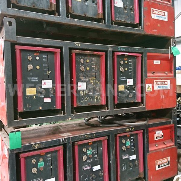 Lincoln Murex heavy duty 450 amp AC Stick Welders. in banks of 3