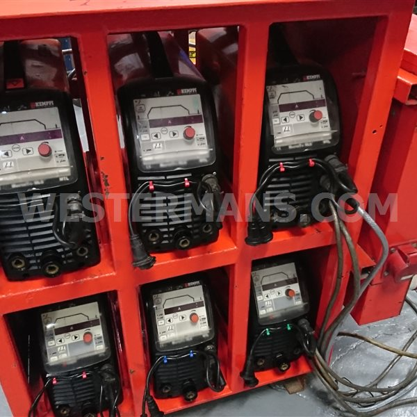 Kemppi MLS 3500 and 4000 In banks of 6 Suitable for mains or power generator use