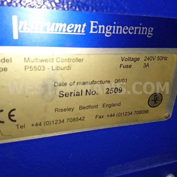 VBC Multiweld controler Instrument engineering