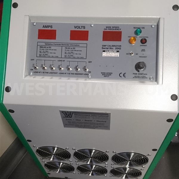 Calibrator load bank for 600 AC/DC or 1000 amps for Validation and Calibration of Welding Machines - New