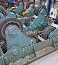 Bode SAR 10 Ton Self Aligning Welding Rotators, 1 Powered unit and 1 Idler unit