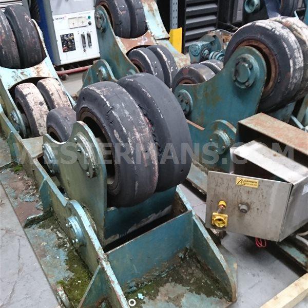 Bode SAR 15 ton welding Rotators, self aligning 1 powered 1 idler