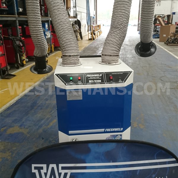 Freshweld M2 Series Mobile Mechanical Fume Extractor - Double Arm