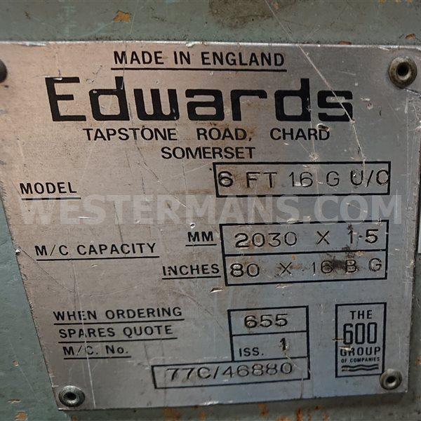 Edwards folder 6ft 16g u/c 2030mm x 1.5 folder