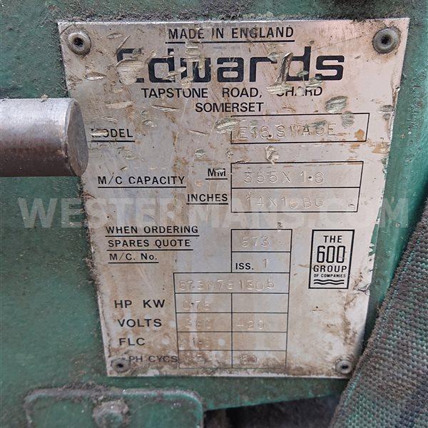 Edwards E16 swage power