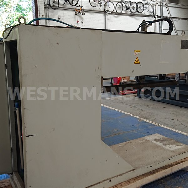Longitudinal Weld Planishing Machine last used on 3mm stainless