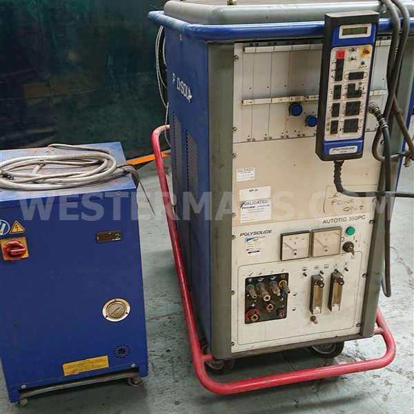 Bode pcb column and boom with cold wire tig fitted with polysoude autotig 600