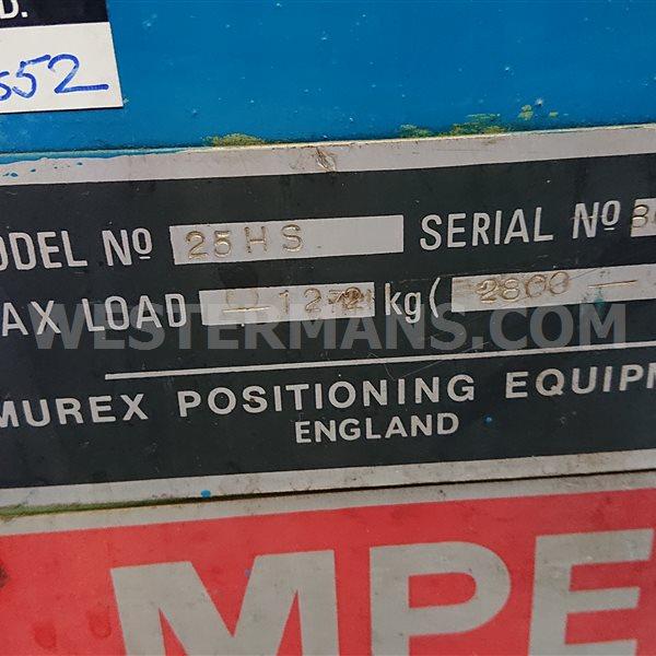 Murex MPE Manual Welding Positioner Price @ £500 GBP
