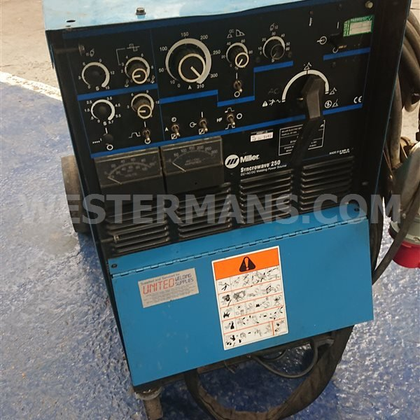 Miller Syncrowave 250 AC/DC TIG Welder Gas or Water Cooled